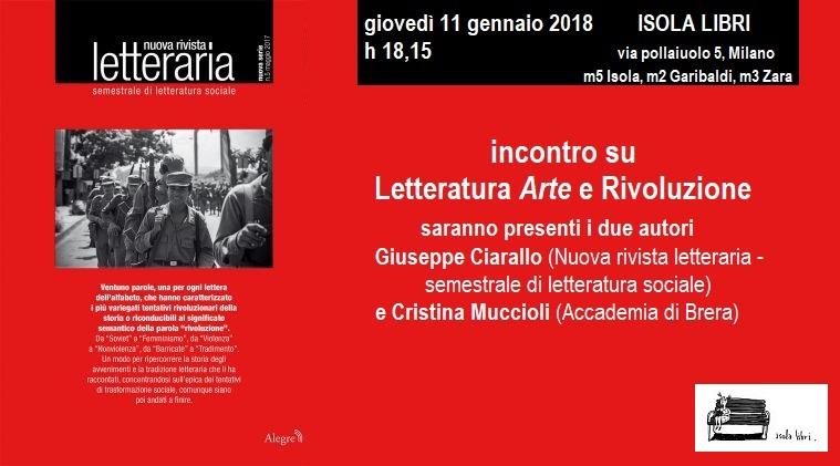 nuova rivista letteraria: Letteratura, Arte e Rivoluzione