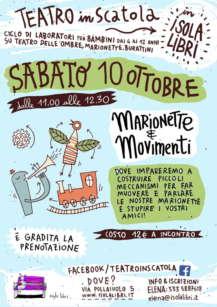 Teatro in scatola: marionette e movimenti