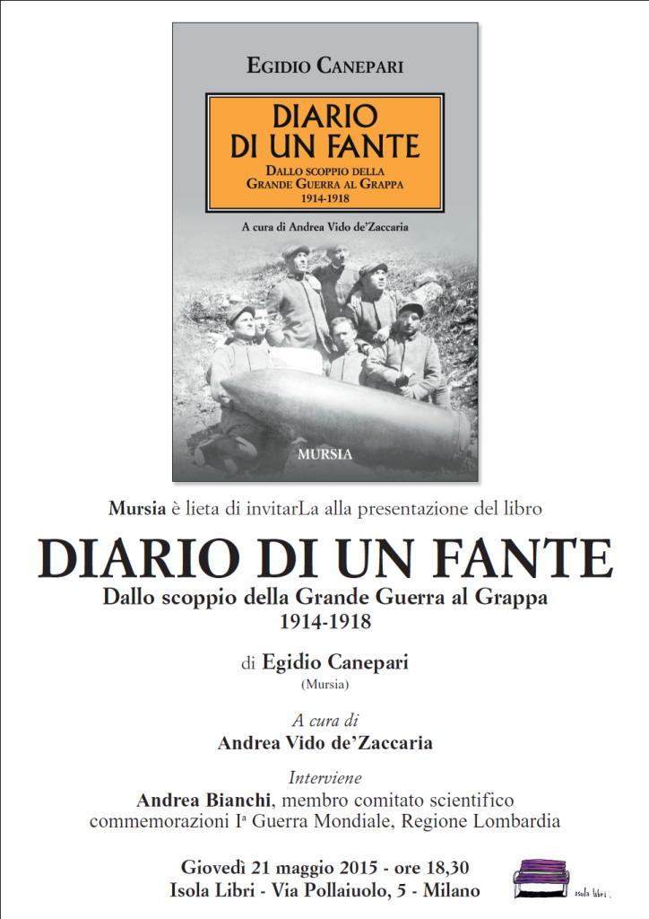 """Presentazione del libro: """"Diario di un Fante"""""""