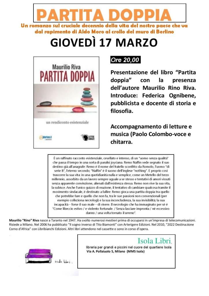 Presentazione del libro: PARTITA DOPPIA